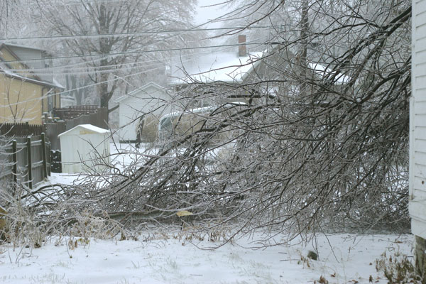 Ice Storm, back of house